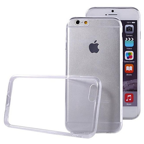 Кейс для Назначение Apple iPhone 6 iPhone 6 Plus Ультратонкий Прозрачный Кейс на заднюю панель Сплошной цвет Мягкий ТПУ для iPhone 6s