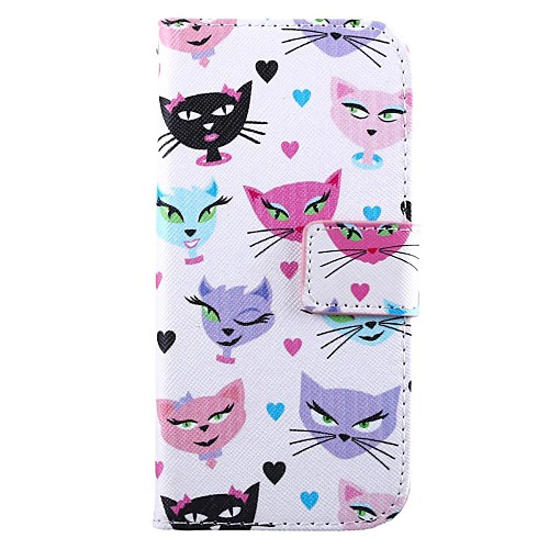 The Cat PU Leather Full Body Cover with Stand and Card Slot for HTC One M8 Mini