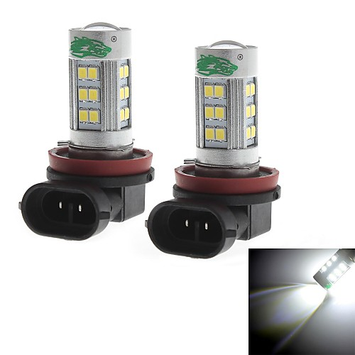 zweihnder h11 15w 1400lm 6000-6500K 27xsmd 2835 светодиодный Белый свет лампы для автомобилей противотуманные фары (12-24В, 2 шт)