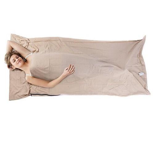 Коврик-пенка Спальный мешок Спальный мешок Liner на открытом воздухе Прямоугольный 15°C Односпальный комплект (Ш 150 x Д 200 см) Хлопок / Водонепроницаемость фото