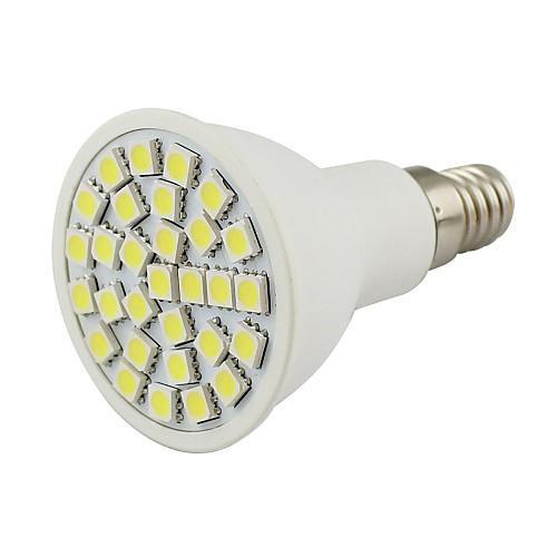 2 Вт. 450-500 lm E14 Точечное LED освещение 30 светодиоды SMD 5050 Декоративная Тёплый белый Холодный белый AC 110-130 В DC 12V