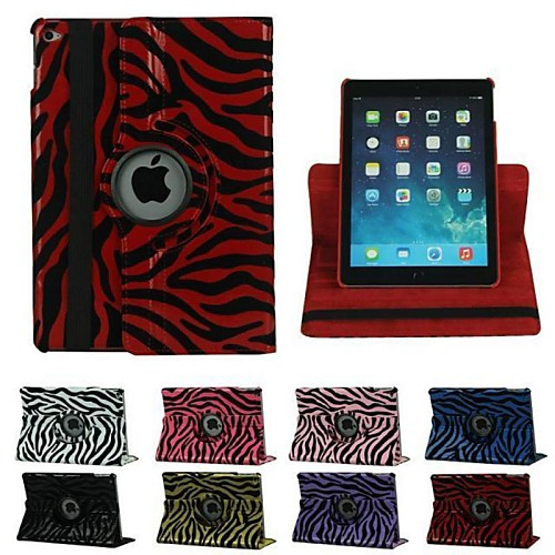 9.7 Inch 360 Degree Rotation Zebra-Stripe Pattern with Stand Case for iPad Air 2(Assorted Colors)