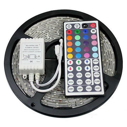 5 метров RGB ленты Наборы ламп Гибкие светодиодные ленты светодиоды Пульт управления Можно резать Диммируемая Водонепроницаемый