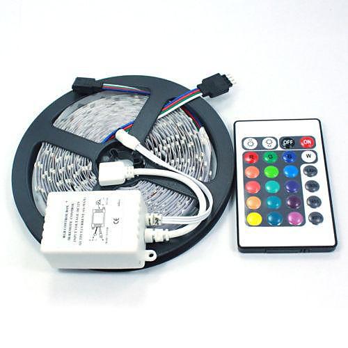 RGB ленты Наборы ламп Гибкие светодиодные ленты светодиоды RGB Пульт управления Можно резать Диммируемая Меняет цвета Самоклеющиеся