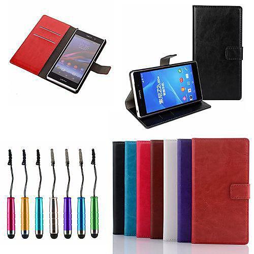 Кейс для Назначение Sony Xperia Z3 Compact Sony Xperia Z2 Sony Xperia M2 Sony Кейс для Sony Бумажник для карт Кошелек со стендом Флип комплектующие и запчасти для ноутбуков sony tablet z2 sgp511 512 541 z1