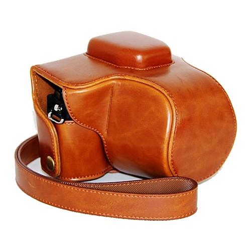 pajiatu ретро пу кожа масло камеры кожи защитный футляр для Olympus OM-D е-M10 EM10 с 14-42мм объективом футболка однотонная с открытым плечом
