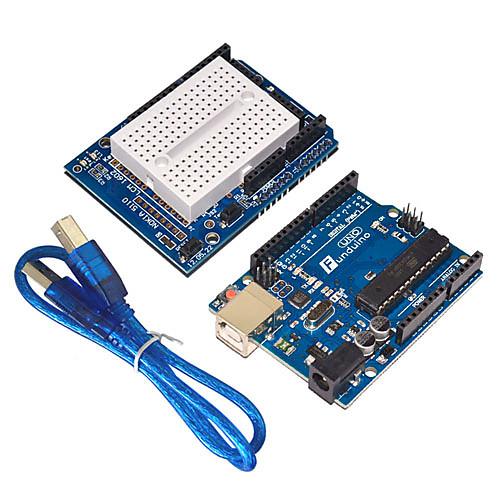funduino расширенный стартовый комплект ЖК-серводвигателя матричный макетная привел базовый элемент пакет, совместимый с Arduino от MiniInTheBox.com INT