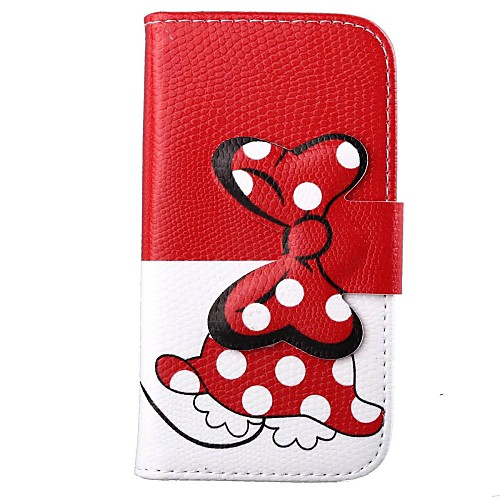 Bowknot Pattern PU Full Body Case with Card Slot for Motorola MOTO X