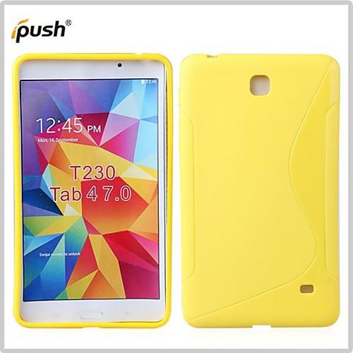 Для Кейс для  Samsung Galaxy Рельефный Кейс для Задняя крышка Кейс для Один цвет TPU Samsung Tab 4 7.0