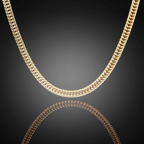 форма Ожерелья-цепочки Сплав Ожерелья-цепочки Свадьба Для вечеринок Повседневные Бижутерия