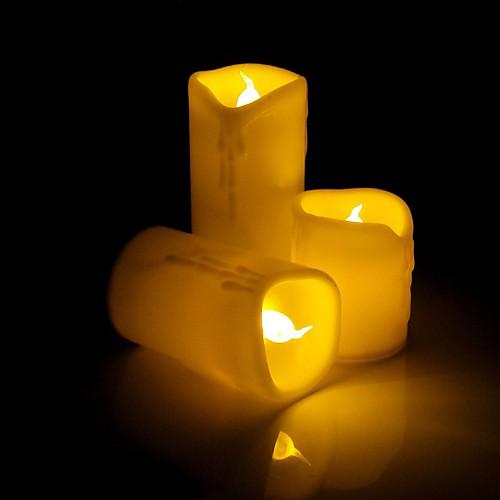 капает мерцание восковой беспламенный привело свечу с желтым светом - 3шт
