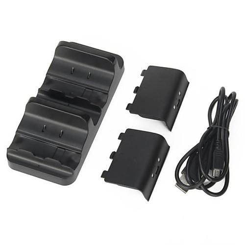 Зарядное док-станция  2 Аккумулятор для Microsoft Xbox One беспроводной контроллер <br>