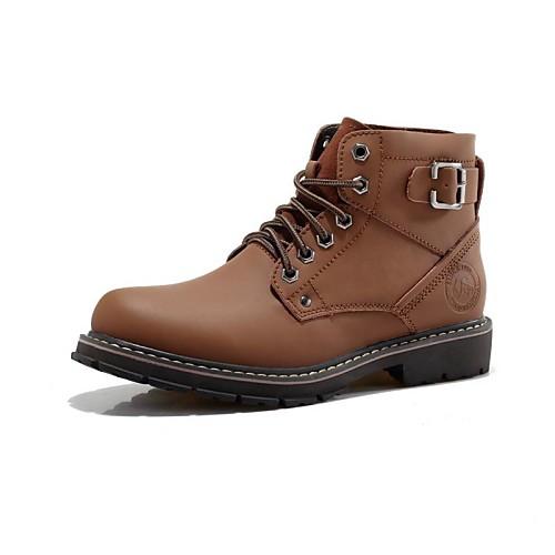 мужская обувь модные сапоги комфорт круглый носок плоским пятки теленок волосы ботильоны больше цветов