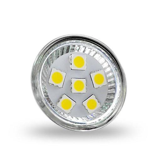 4 Вт. 350 lm GU4(MR11) Точечное LED освещение MR11 6 светодиоды SMD 5050 Декоративная Холодный белый DC 12V