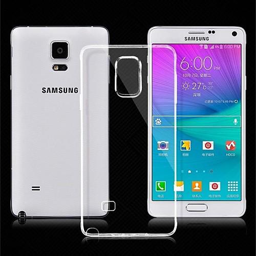 Кейс для Назначение SSamsung Galaxy Samsung Galaxy Note Ультратонкий Прозрачный Кейс на заднюю панель Сплошной цвет ТПУ для Note 4 чехол для для мобильных телефонов rcd 4 samsung 4 for samsung galaxy note 4 iv