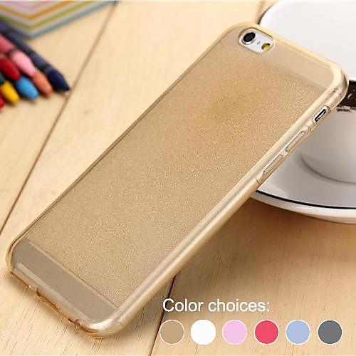 Для Кейс для iPhone 6 / Кейс для iPhone 6 Plus Полупрозрачный Кейс для Задняя крышка Кейс для Сияние и блеск Мягкий TPUiPhone 6s Plus/6