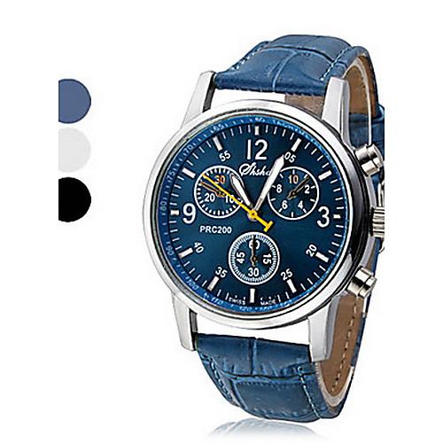 Муж. Наручные часы Кварцевый Повседневные часы PU Группа На каждый день Черный Белый Синий от MiniInTheBox.com INT