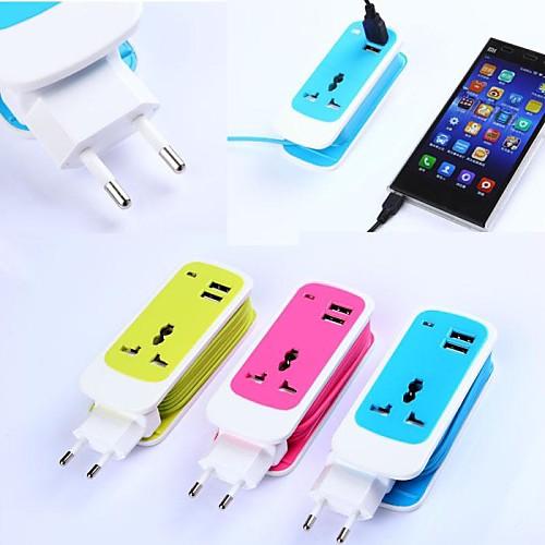 Зарядное устройство для дома / Портативное зарядное устройство Зарядное устройство USB Евро стандарт Несколько портов 2 USB порта 2.1 A