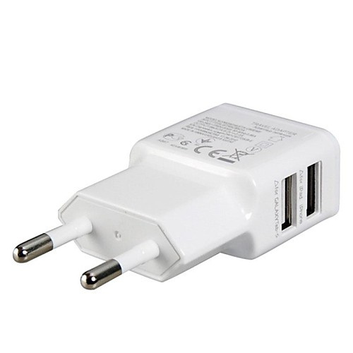 ЕС Plug Dual USB зарядное устройство адаптер питания стены для Ipad, iphoneamp; Samsung <br>