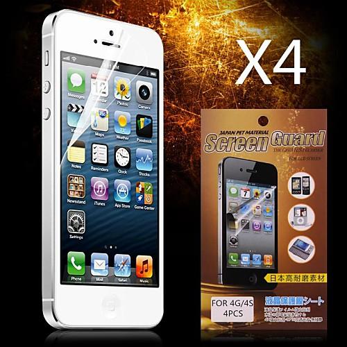 Защитная плёнка для экрана Apple для iPhone 6s iPhone 6 4 ед. Защитная пленка для экрана HD