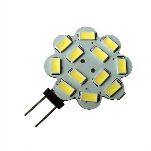 1,5 Вт 6000-6500 lm G4 Точечное LED освещение 12 светодиоды SMD 5630 Естественный белый DC 12V
