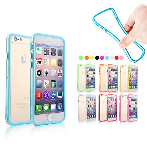 Кейс для Назначение Apple iPhone 6 iPhone 6 Plus Other Бампер Однотонный Мягкий Силикон для iPhone 6s Plus iPhone 6s iPhone 6 Plus iPhone фотонабор olloclip studio для apple iphone 6 6s plus black oc 0000169 eu
