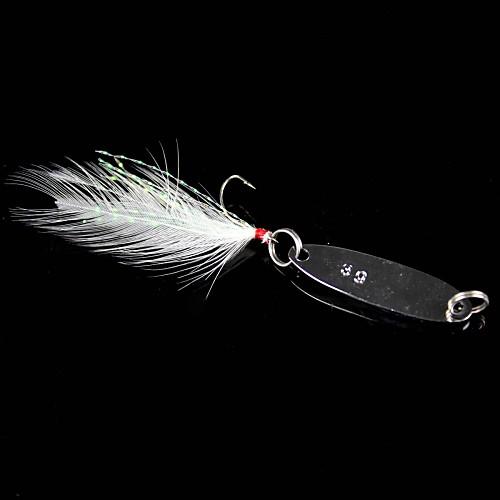 Жесткая наживка / Металлическая наживка / Ложки / Рыболовная приманка Для рыбалки-1 штук Серебро Металл