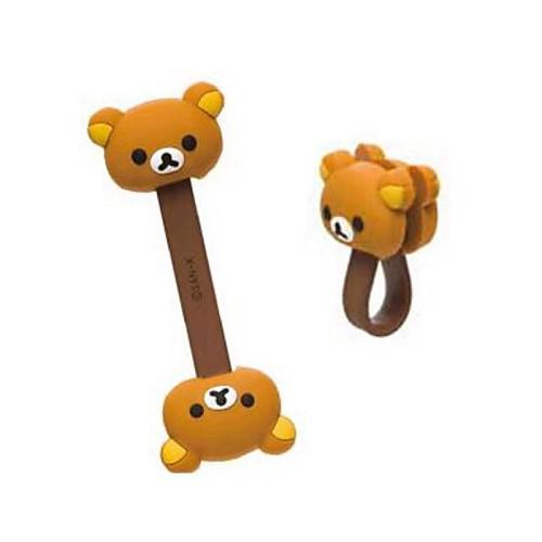 Медведь Pattern намотки кабеля nengchen намотки для кабели серый