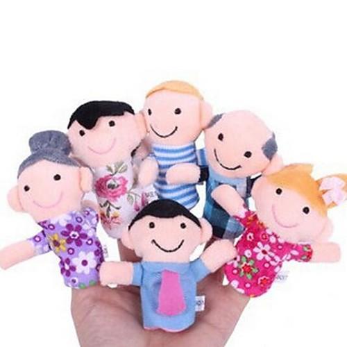 Экшен-фигурки Пальцевые куклы Марионетки Милый стиль Милый текстильный Плюш Девочки Подарок 6pcs