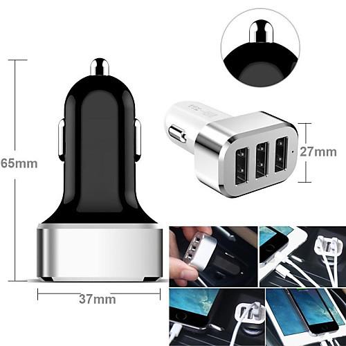 Автомобильное зарядное устройство Зарядное устройство USB Несколько портов 3 USB порта 2.1 A / 2 A / 1 A DC 12V-24V прибор для авто oem 3 in1 12v 24v 68050