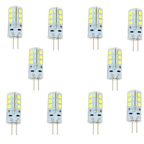 3W G4 Двухштырьковые LED лампы 24 SMD 2835 180 lm Тёплый белый / Холодный белый DC 12 V 10 шт.