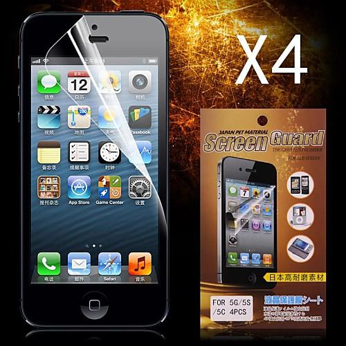 Защитная плёнка для экрана Apple для iPhone 6s Plus iPhone 6 Plus iPhone SE/5s 4 ед. Защитная пленка для экрана HD защитная пленка для мобильных телефонов apple iphone 5 5s 5c
