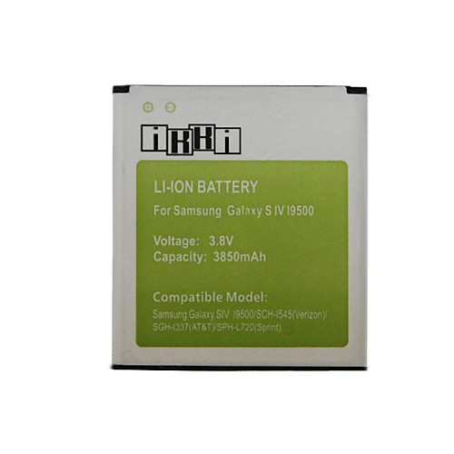 IKKI ™ 3.8V 3850mAh Литий-ионная аккумуляторная батарея для Samsung Galaxy i9500 S4 / I9502 / I9508 / I9505 I959 /