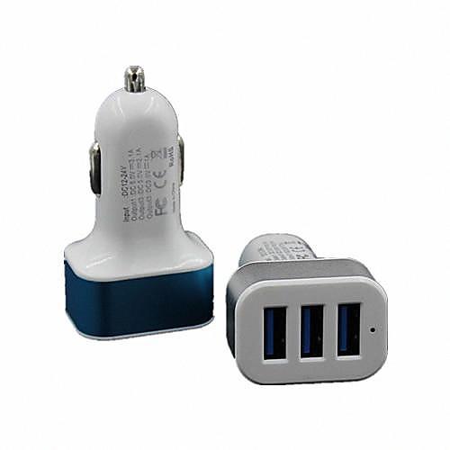 Зарядное устройство для дома / Портативное зарядное устройство Зарядное устройство USB Несколько портов 3 USB порта 2.1 A / 1 A DC 12V-24V сетевое зарядное устройство apple usb мощностью 5 вт md813zm a