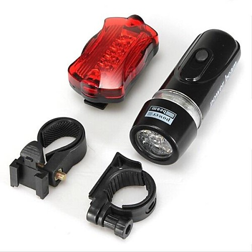 Передняя фара для велосипеда / Задняя подсветка на велосипед / Набор аккумуляторных ламп для велосипеда Светодиодная лампа - Велоспорт Водонепроницаемый AAA 100 lm Батарея