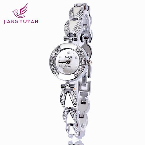 yaqin люксовый бренд женщины часы моды горный хрусталь кварцевые часы женщин (ассорти цветов)