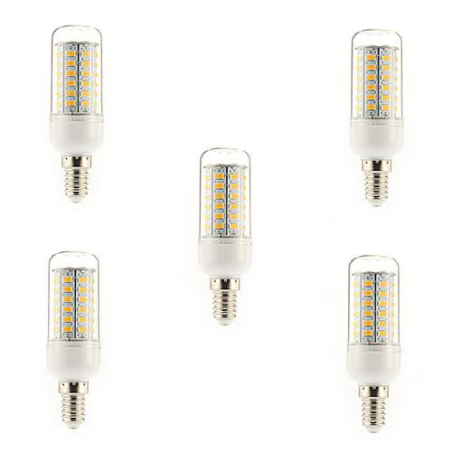 5 Вт. 450 lm E14 G9 E26/E27 LED лампы типа Корн T 56 светодиоды SMD 5730 Тёплый белый Холодный белый AC 220-240V