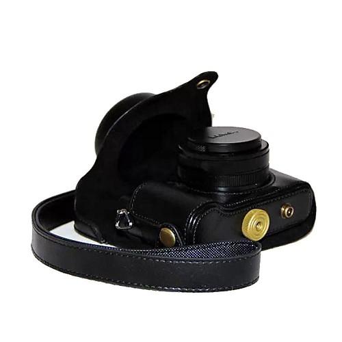 dengpin ретро искусственная кожа личи текстуры камеры крышку сумка с плечевым ремнем для Panasonic Lumix LX100 DMC-LX100 футболка однотонная с открытым плечом
