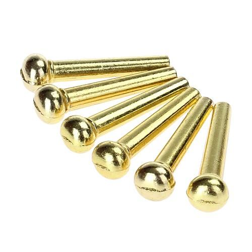 6 штук общие выводы акустическая гитара кости латунь мост (золотые)