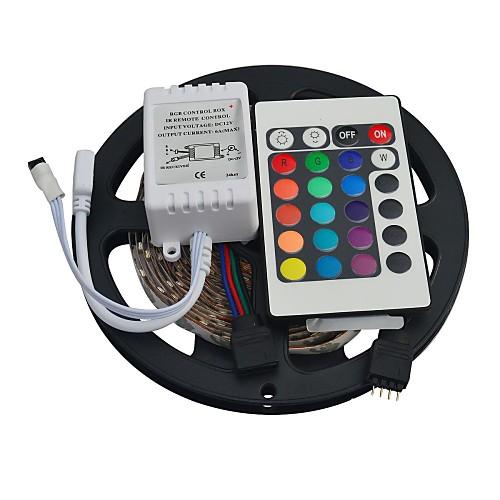 5m 300eds 3528 rgb не водонепроницаем с 24 ключами и пультом дистанционного управления гибкими светодиодными световыми полосками
