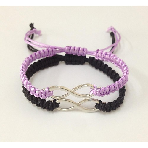 Women's Charm Bracelet Infinity Ladies Unique Design Fashion Bracelet Jewelry Black / Purple For Christmas Gifts Wedding Party Daily Casual Sports