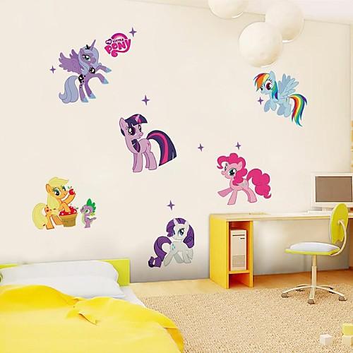 Животные Наклейки Простые наклейки Декоративные наклейки на стены материал Съемная Украшение дома Наклейка на стену