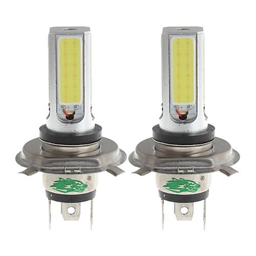zweihnder h4 24w 2300lm 6000-6500K 4xcob светодиодный Белый свет лампы для автомобилей Foglight (12-24, 2 шт)
