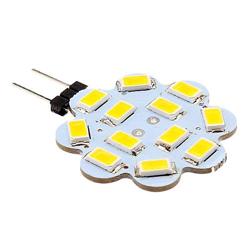 2W G4 Двухштырьковые LED лампы 12 светодиоды SMD 5630 Тёплый белый Холодный белый 250lm 3500/6000K DC 12V