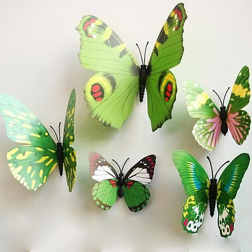 Мода Геометрия 3D Наклейки Простые наклейки Декоративные наклейки на стены, ПВХ Украшение дома Наклейка на стену Стена