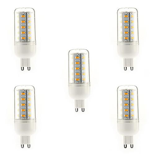 7W E14 G9 E26/E27 LED лампы типа Корн T 36 SMD 5730 700 lm Тёплый белый Холодный белый Естественный белый AC 220-240 V 5 шт.