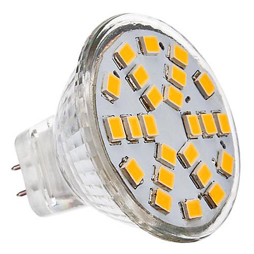 230 lm GU4(MR11) Точечное LED освещение 24 светодиоды SMD 2835 Тёплый белый Холодный белый AC 12V