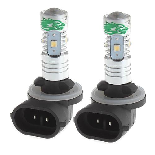 zweihnder 881 25w 2400LM 7000-7500k 5 х 3030 SMD LED холодный белый лампочку для автомобиля фары (12-24В, 2 шт)