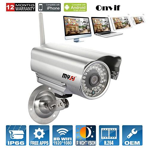 Пуля IP камера наружного 1080p день ночь водонепроницаемый WiFi (1/3 дюймовый цветной CMOS сенсор)