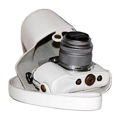 dengpin пу кожаный чехол для камеры сумка чехол для Olympus PEN электронной PL7 epl7 с 17мм или объективом 14-42мм футболка однотонная с открытым плечом